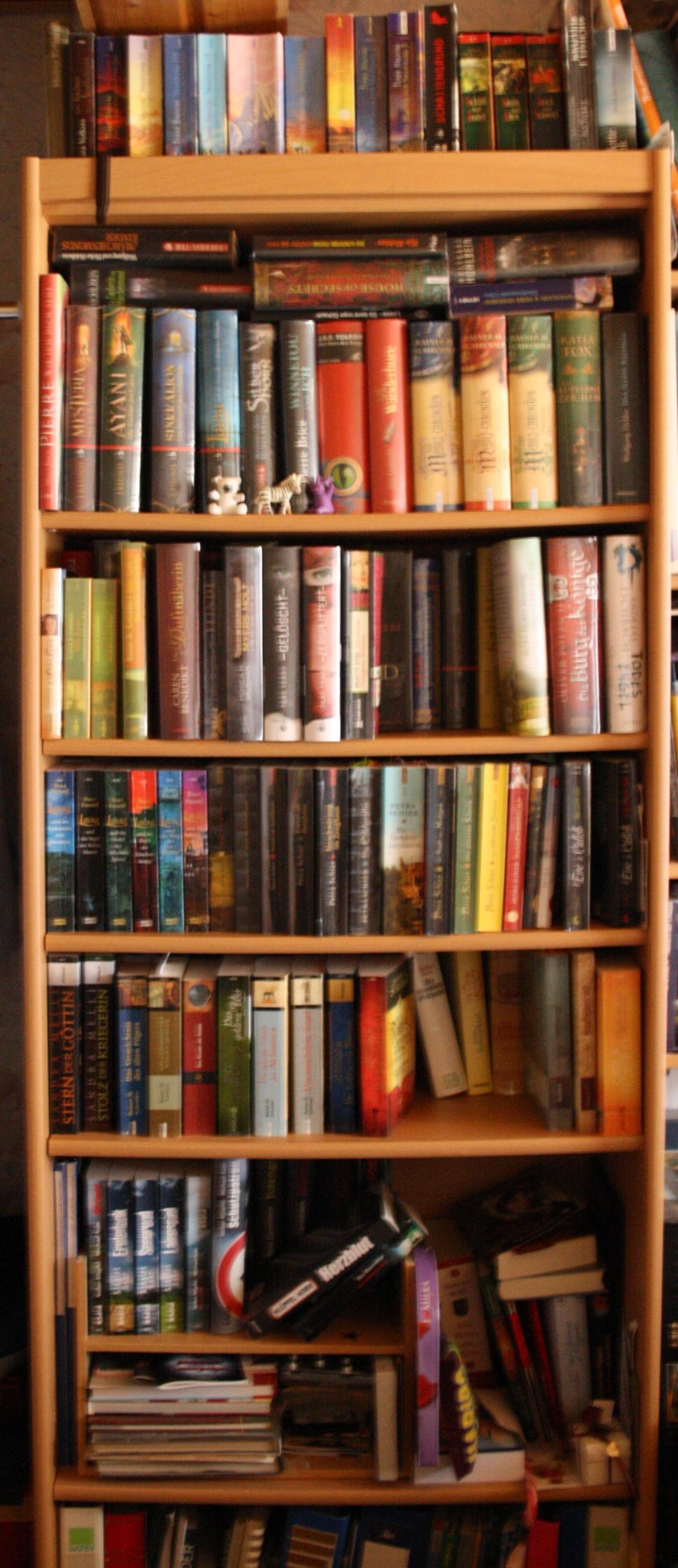 Der Kampf mit den Bücherregalen und auf wie viele Regale ...