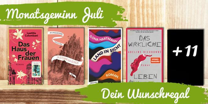 Gewinne deine 15 Wunschbücher - großes Gewinnspiel im Juli