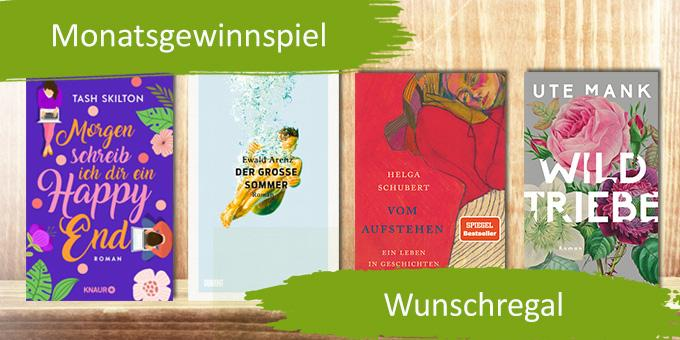 Monatsgewinnspiel Juli - Gewinne 15 Wunschbücher