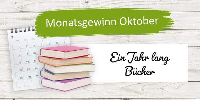Monatsgewinnspiel Oktober: Ein Jahr lang Bücher