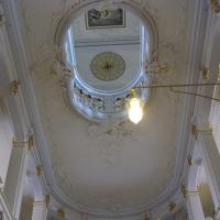 Blick nach oben zu den zwei Galerien