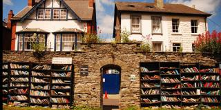 »The Honest Bookshop« in Hay on Wye, Wales, England