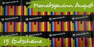 Monatsgewinnspiel August: 15 Buchgutscheine à 15 Euro