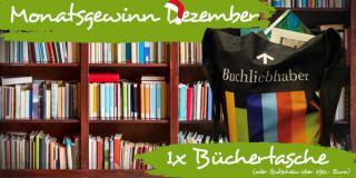 Monatsgewinn Dezember: Gewinne eine Tasche voller Bücher