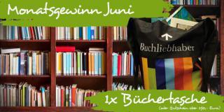 Monatsgewinn Juni: Gewinne eine Tasche voller Bücher