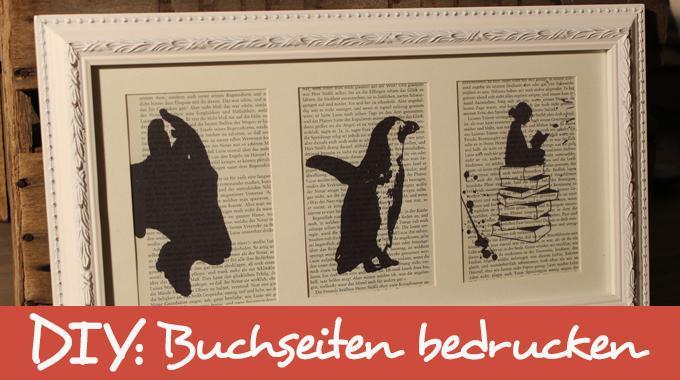 DIY: Buchseiten bedrucken