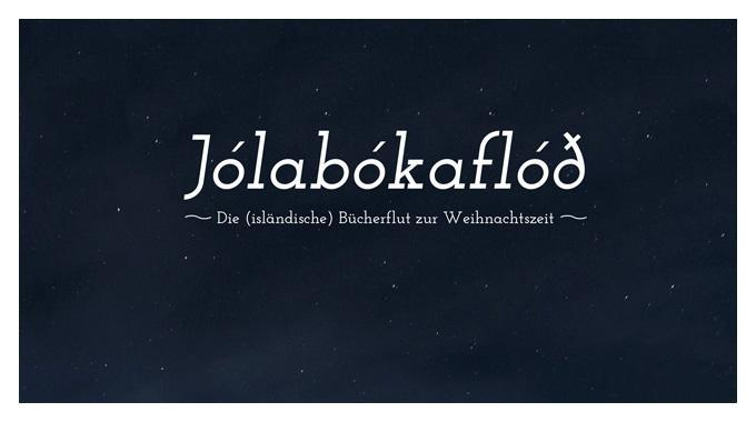 Die islaendlische Buecherflut zur Weihnachtszeit