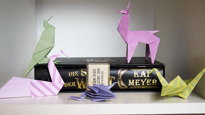 """DIY: Bibliomantisches Origami (""""Die Seiten der Welt"""", Kai Meyer)"""