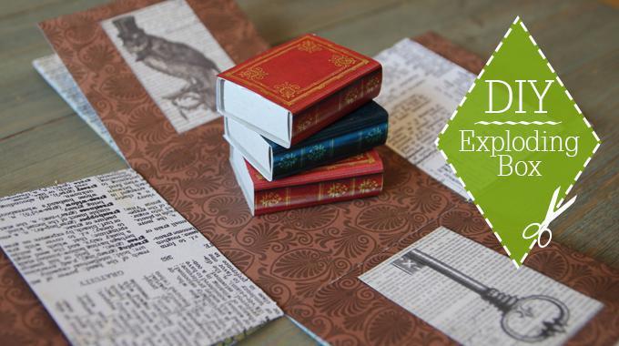 DIY: Exploding Box für Buchgutscheine; Foto von Maren Kahl
