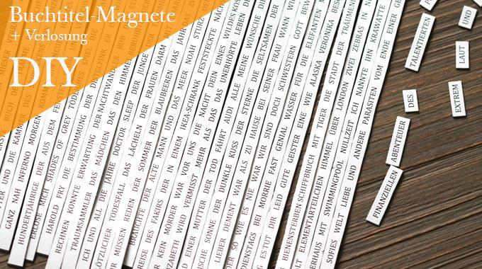 Do it yourself: Buchtitel-Magnete
