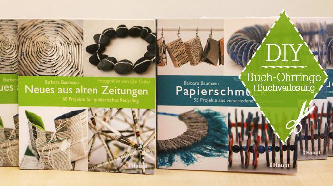 DIY: Bücher-Ohrringe (mit Verlosung)