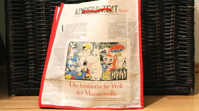 DIY: Tasche aus Zeitung