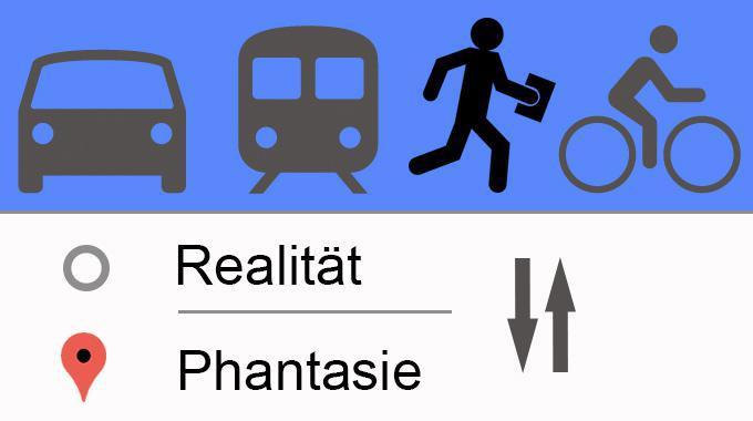 Routenplaner fiktive Orte