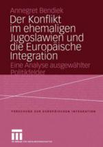 Der Konflikt im ehemaligen Jugoslawien und die Europäische Integration