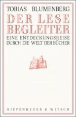 Der Lesebegleiter - Tobias Blumenberg